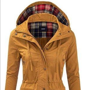 Mustard military jacket